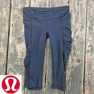 Lululemon Zoom Run Crop Legging Black 6